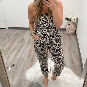 Animal Print Jumpsuit